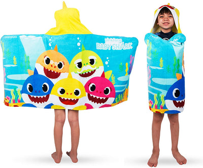 Baby Shark Hooded Towel Bath Wrap Toddler beach towel - Personalized