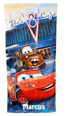 CARS McQueen Mater Hometown Beach Towel Personalized Beach Towel