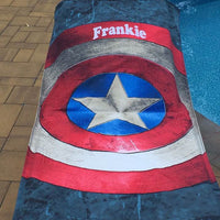 Marvel Captain America Shield Beach Towel - Personalized Beach Towel