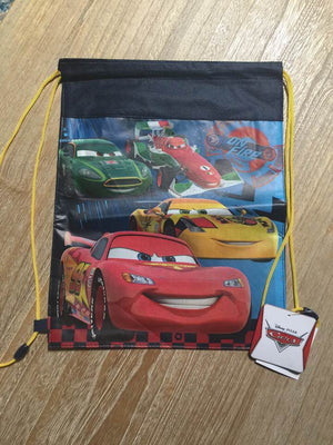 Disney PIXAR CARS Drawstring Backpack Sling Bag – Personalized