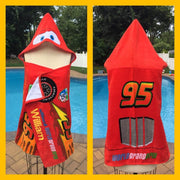 CARS Lightning McQueen Beach Towel Bath Wrap Personalized
