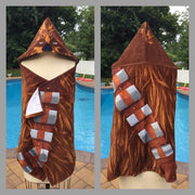 Star Wars Chewbacca Hooded Bath Beach Pool Towel Wrap - Personalized