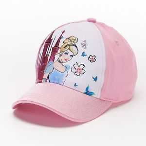 Cinderella Toddler Girls Pink Baseball Hat - Personalized