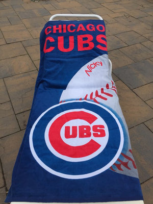 Baseball MLB Chicago CUBS Beach Towel Personalized