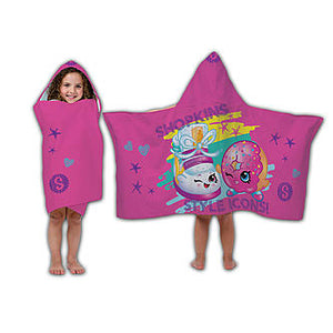 Shopkins D'Lish Donut & Sneaky Wedge Hooded Towel Wrap - Personalized