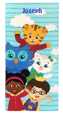 Daniel Tiger Friendly Neighbors Beach Towel - Personalized