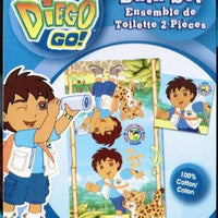 Go Diego Go 2-piece Kids Bath Towel Set - Personalized