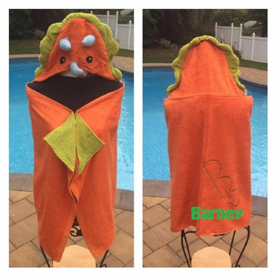 Dinosaur Hooded Bath Towel Wrap - Personalized