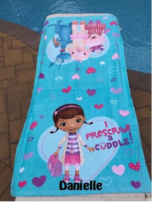 Disney Doc McStuffins Bath Towel and Wash Mitt Set - Personalized