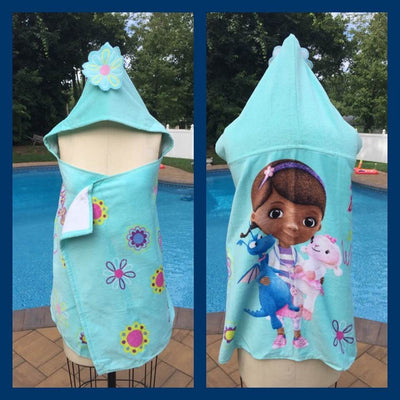 Disney DOC McSTUFFINs Hooded Towel Wrap Personalized