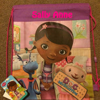 Doc McStuffins Drawstring Backpack Sling Bag – Personalized