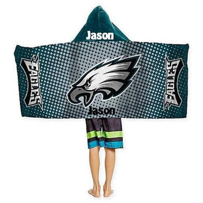 Football NFL Philadelphia Eagles hooded Towel Wrap - Personalized