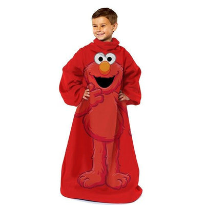 Sesame Street ELMO Youth Comfy Blanket Throw with Sleeves - Personalized