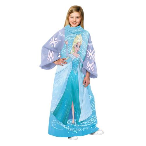 Frozen 'Elsa Swirling Storm' Comfy Throw with Sleeves - Personalized