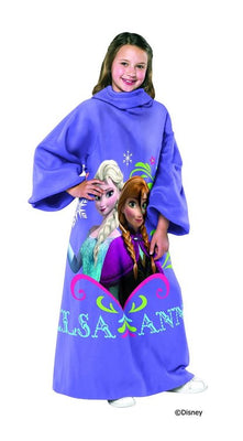 Frozen Elsa and Anna Sisters Comfy Throw with Sleeves - Personalized
