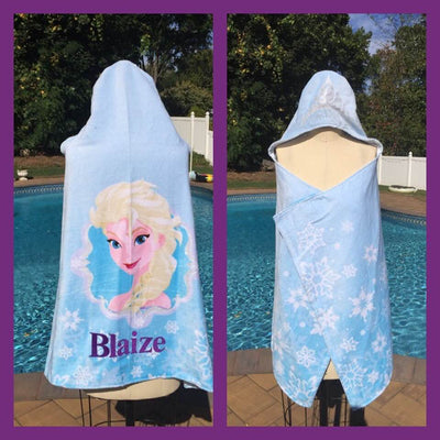 Frozen Princess Elsa Hooded Bath Towel Wrap – Personalized