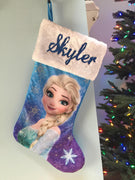 "FROZEN Elsa 20"" Christmas Stocking Plush Cuff - Personalized - T5"