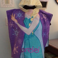 Disney Frozen Princess Elsa Hooded Poncho Towel – Personalized