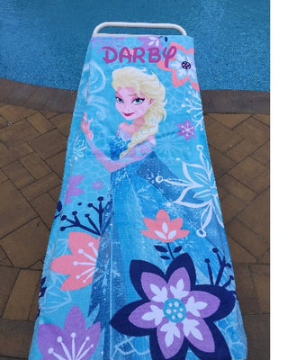 Frozen ELSA Cotton Beach Towel - Personalized Over-sized 30