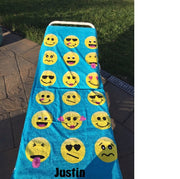 Smile EMOJI emojicon Beach towel Personalized