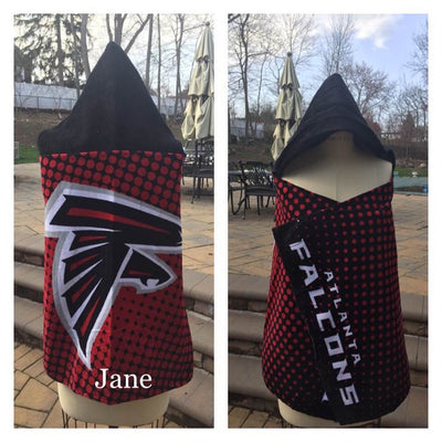 Football NFL Atlanta Falcons Hooded Towel Wrap - Personalized