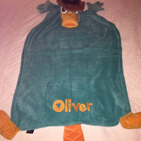 Cuddleuppets Agent P Phineas and Ferb Plush Puppet Blanket Throw Personalized