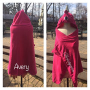 Flamingo Hooded Bath Towel Wrap - Personalized
