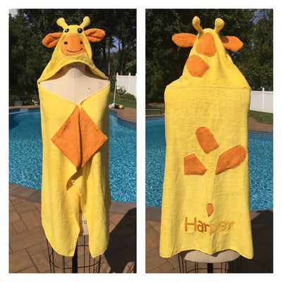 Giraffe Bath Towel Wrap - Personalized