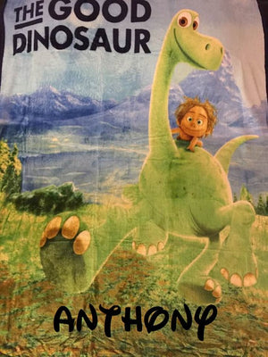 "The Good Dinosaur Silky Soft Fleece Throw Blanket 40"" x 50"" - Personalized"