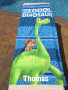 The Good Dinosaur Arlo & Spot Beach Towel - Personalized Beach Towel
