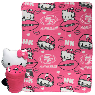 Hello Kitty San Francisco 49ers NFL Hugger and Throw Set- Personalized