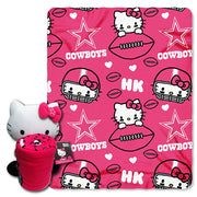 Hello Kitty Dallas Cowboys NFL Hugger and Throw Set- Personalized