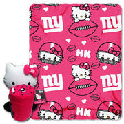 Hello Kitty New York GIANTS NFL Hugger and Throw Set- Personalized