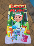 Handy Manny Cotton Velour Beach Towel Personalized Beach Towel