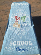 "Harry Potter ""Hogwarts School"" Beach Towels Cotton Beach Towel Personalized Beach Towel"