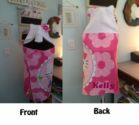 HK Hello Kitty Hooded Beach Bath Towel Wrap - Personalized