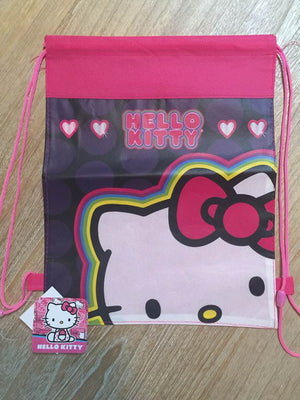 Hello Kitty Drawstring Backpack Sling Bag – Personalized