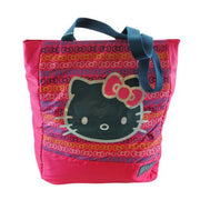 Hand Bag - Hello Kitty - Kitty Black Face Pink Bag