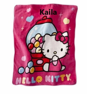 Hello Kitty HK Kitty Sweet Scents Scented Throw Blanket - Personalized