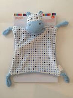 Manhattan Toy Baby Tactile Snuggle Blankie, Blue Hippo Lovey - Personalized