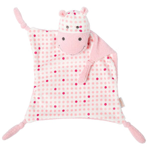 Manhattan Toy Baby Tactile Snuggle Blankie, Pink Hippo Lovey - Personalized