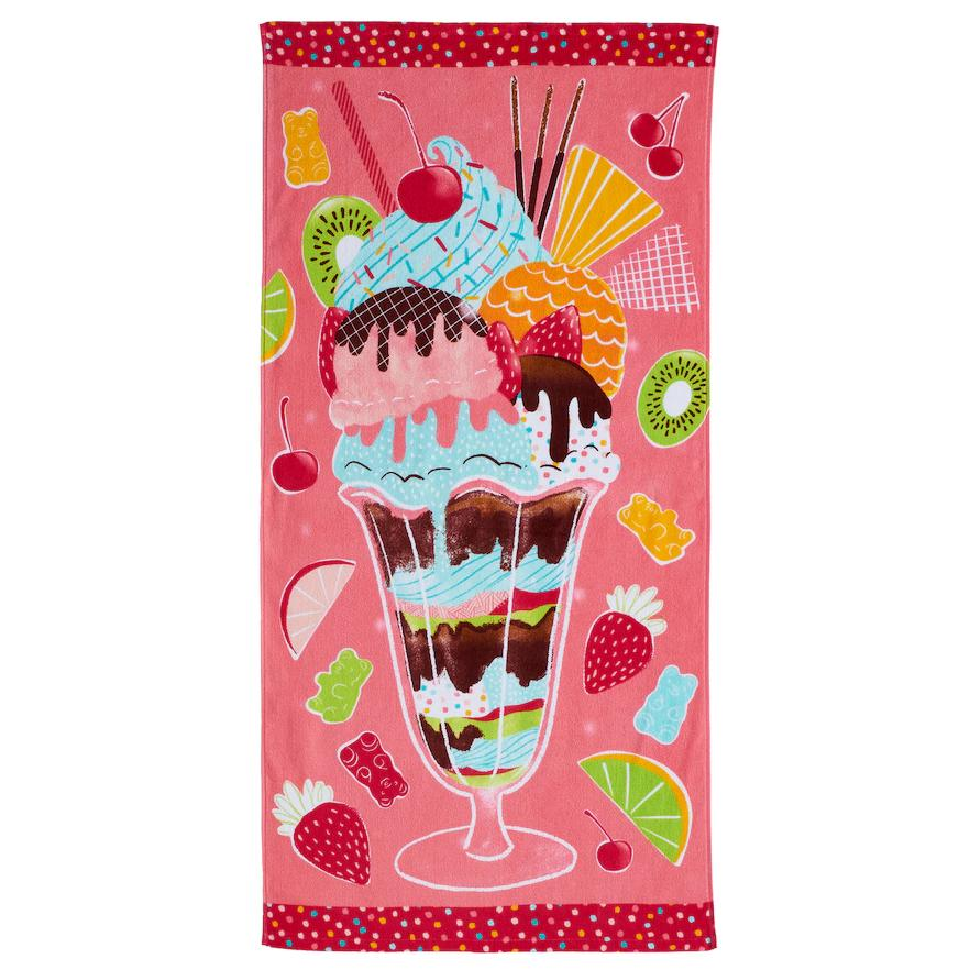 Ice Cream Sundae Beach Towel - Personalized