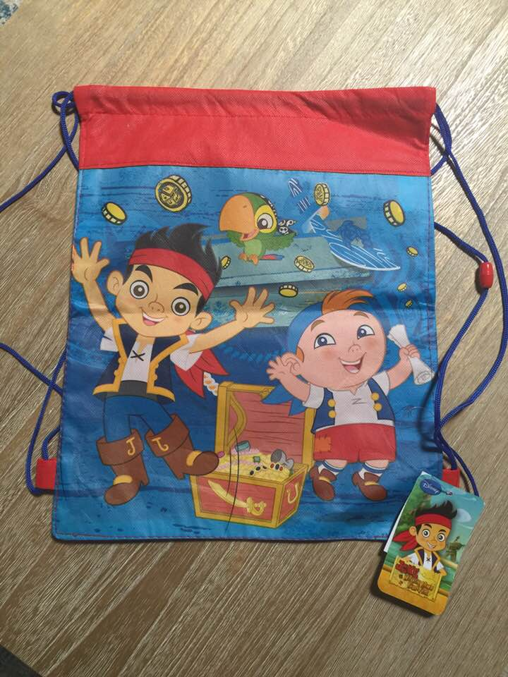 Jake the Pirate Drawstring Backpack Sling Bag – Personalized