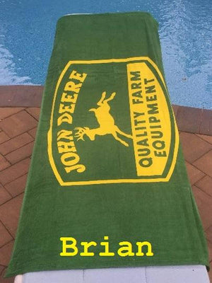 John Deere Beach Towel John Deer Personalized Beach Towel