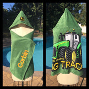 John Deere Hooded Towel Wrap - Personalized