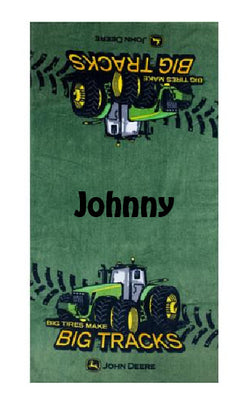 BOYS Bath Beach Towel John Deere Personalized Beach Towel