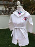 KIDS Waffle Kimono Robe White Wedding Bride Pool Spa - Personalized