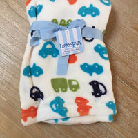 "Baby Lovespun CARS Plush Blanket Blanket 30""x40"" - Personalized Monogrammed"