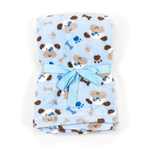 "Baby Lovespun Puppies Plush Blanket Blanket 30""x40"" - Personalized Monogrammed"
