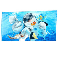 Sea Life Selfie Beach Towel - Personalized